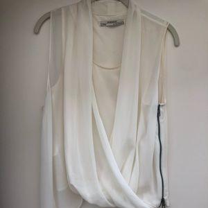ALL SAINTS Off-white sleeveless blouse.